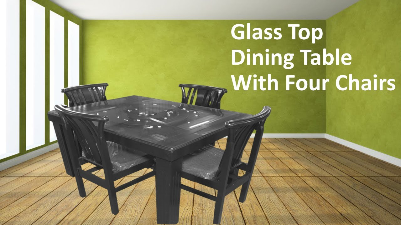 Glass Wood Dining Table With latest wooden dining table glass top with four chairs | kreft