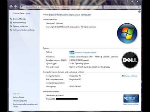 Windows 7 Ultimate RTM (Release to Manufacturing) (6.1 Build 7600.16385) 32비트