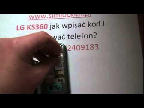 Simlock Lg ks360 jak wpisać kod - Odblokowanie simlocka