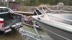 Näin vene nousee trailerille turvallisesti.mov