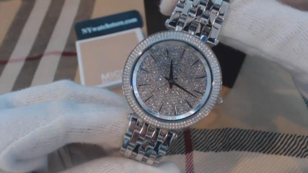9537ec75f4cf Women s Michael Kors Darci Crystallized Glitz Watch MK3437 - YouTube