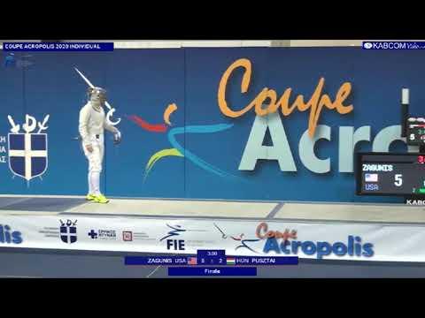 Athens World Cup SWS 2020 - GOLD - Zagunis USA V Pusztai HUN