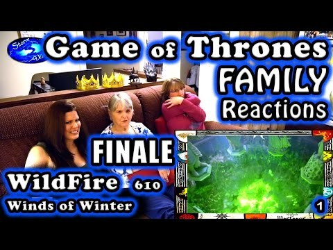 Game of Thrones | FAMILY Reactions | WILDFIRE | FINALE | 610 | 1