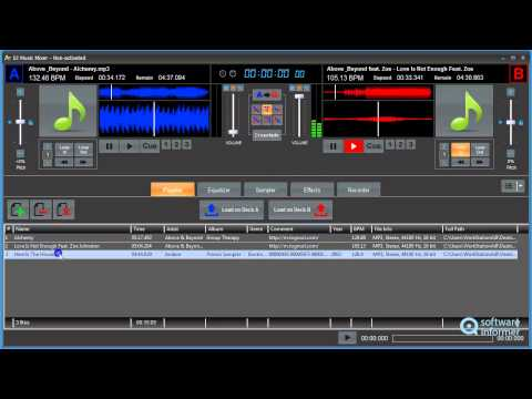DJ Music Mixer video demo