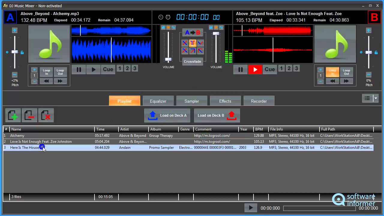 Dj Music Mixer Video Demo Youtube