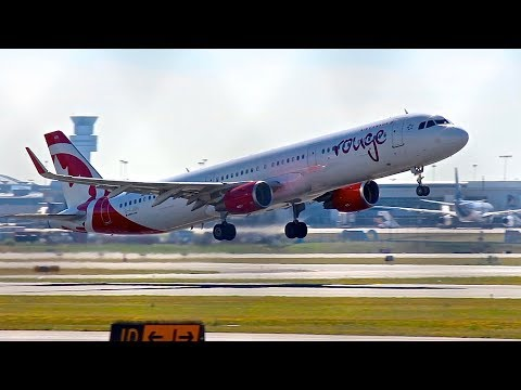 Air Canada Rouge Airbus A321 w/ Sharklets Departure from Toronto Pearson