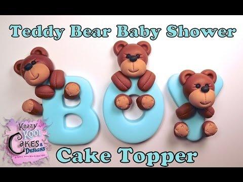 Bear Cake Topper For Baby Shower