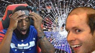 RAGE BREAKS MONITOR! 2k Community TeamUp With TroyDanGaming! NBA 2k18