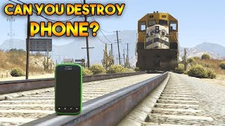 GTA 5 ONLINE : CAN YOU DESTROY PHONE?