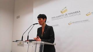 Elma Saiz entrega el proyecto de presupuestos de Navarra para 2020