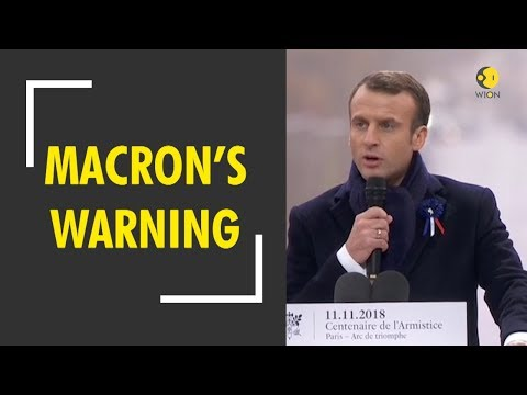 French president Marcon warns against dangers of nationalism
