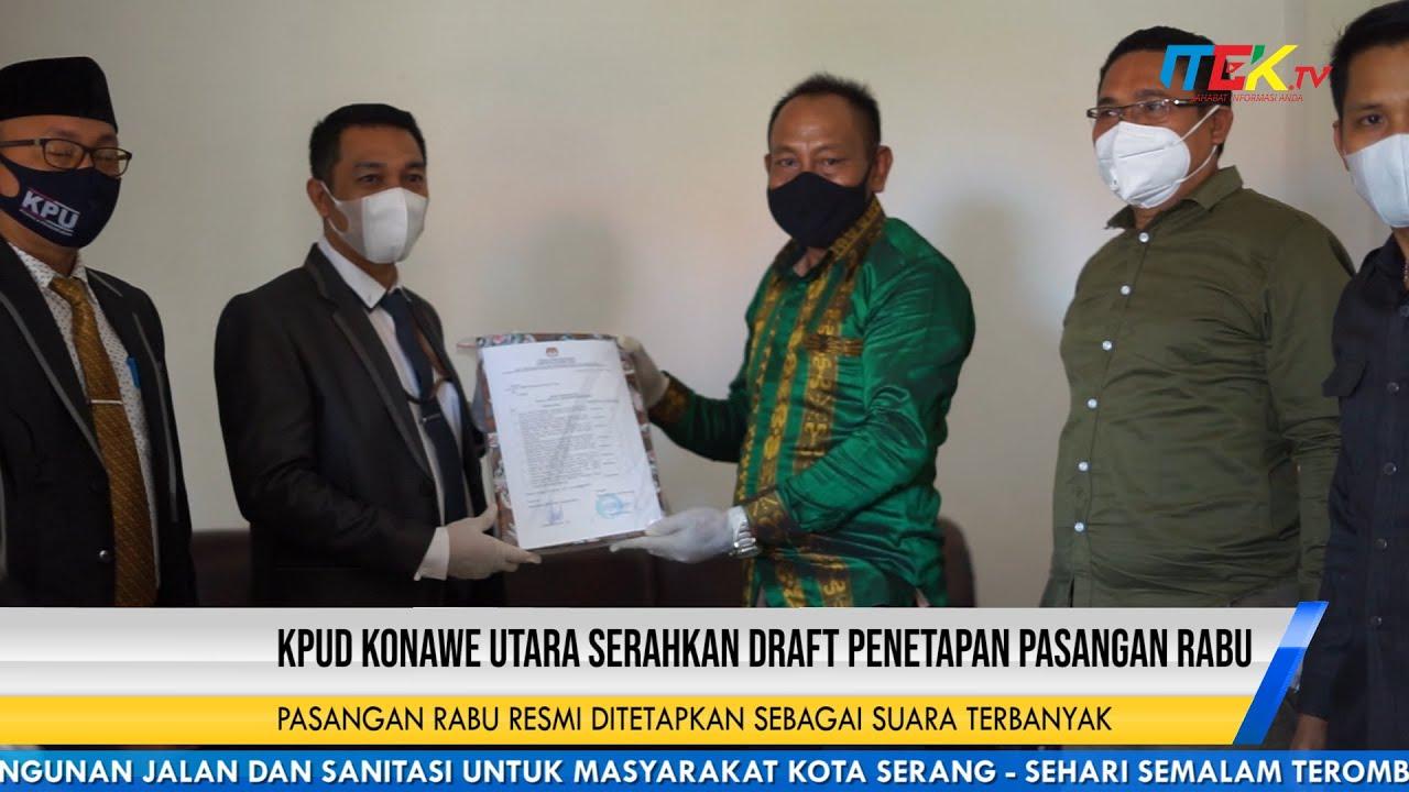 KPUD Konawe Utara Serahkan Draft Penetapan Pasangan Rabu