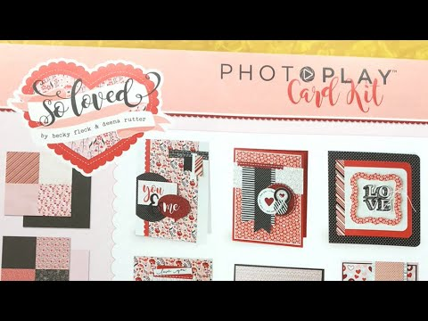 """Photo Play """"So Loved"""" Card Kit Assembly. Live"""
