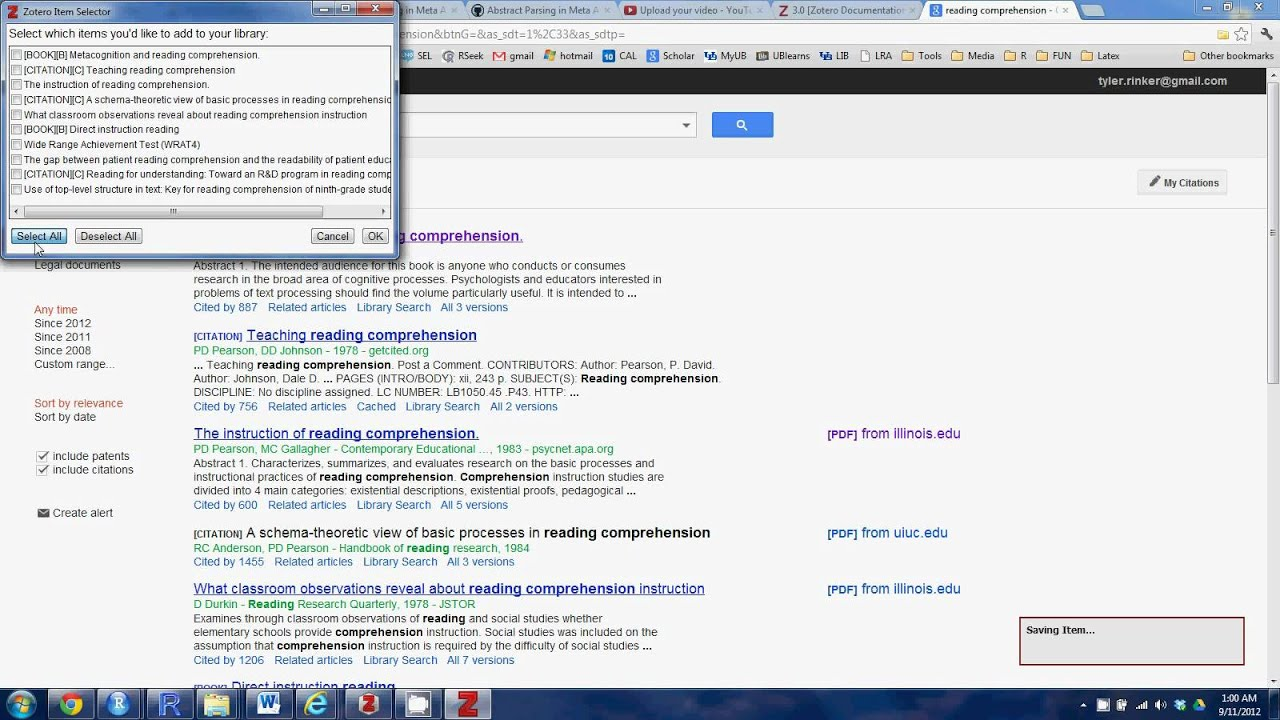 Export Google Scholar To Zotero (ris)