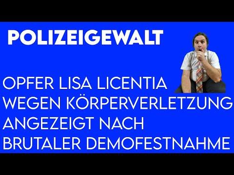 Polizeigewalt: Opfer Lisa Licentia angezeigt wegen Körperverletzung