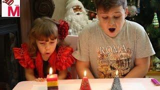 Делаем новогодние свечи своими руками.Украшаем  свечи.Мастер класс свечей.Обзор распаковка набора.