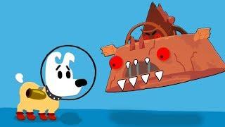 Приключение собачки Мимпи в космосе. mimpi мультик игра для детей