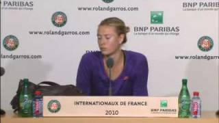 Maria Sharapova Interview Roland Garros - 2010