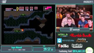 Awesome Games Done Quick 2015 - Part 168 - Super Metroid by Epic and sweetnumb