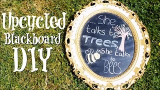 Diy Upcycled Chalkboard From Old Photo Frame/mirror