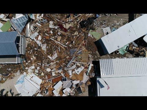 Drone footage of Hurricane Irma devastation in Islamorada