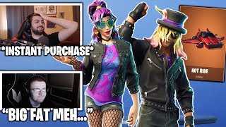 STREAMERS REACTS TO Legendary HOT RIDE, Synth Star & Stage Slayer Skins! (Fortnite Moments)