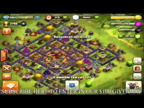 "Clash of Clans - 620,000 Gems! Maxing Base"" Maxed - Queen/King - Troops! Defense! ""Fully Maxed Base"""