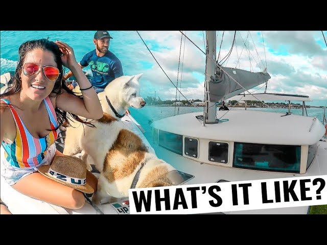 CRUISING ON A SAILING CATAMARAN to the Berries | Boat Life Vlog Ep. 64