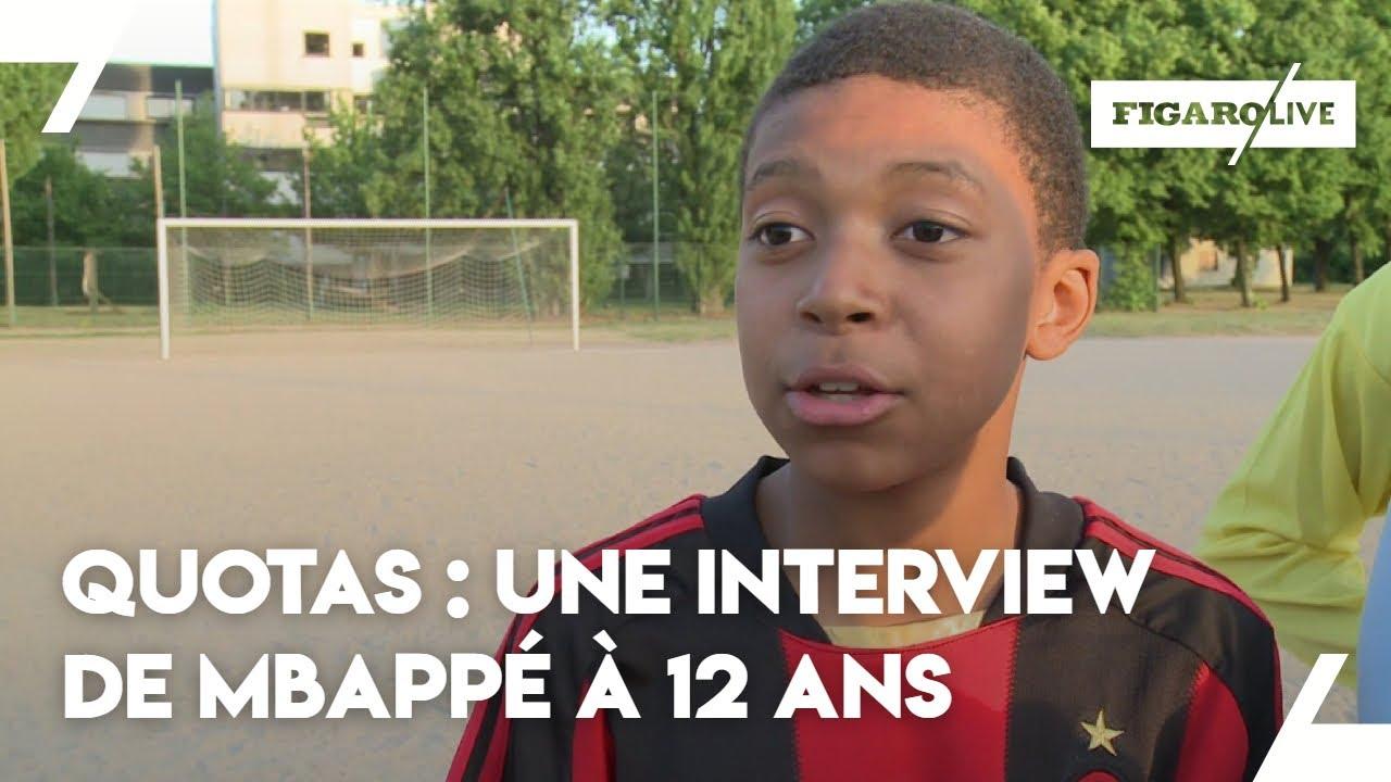 Quand Mbappé s'exprimait sur les quotas dans le football à 12 ans