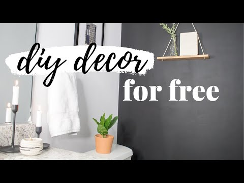DIY HOME DECOR FOR FREE | 5 MINIMALIST DIY ROOM MAKEOVER HACKS