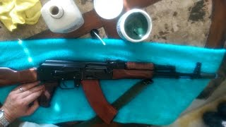 How to clean and oil your AK-47/74 rifle (motor oil and gre