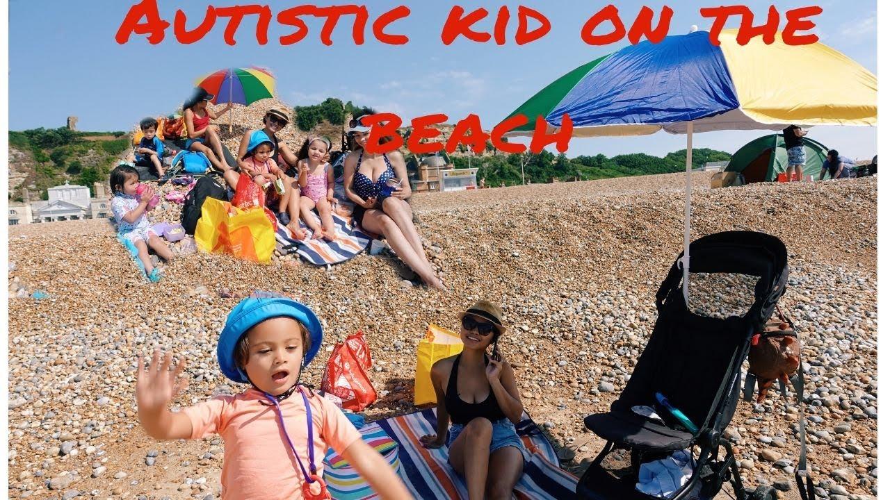 Autistic kid on the Beach!