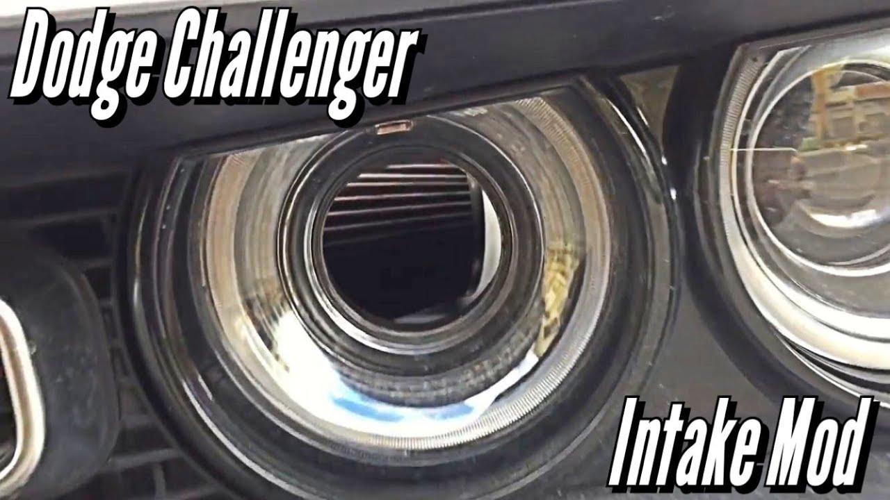 Dodge Challenger Hellcat Intake Mod Youtube