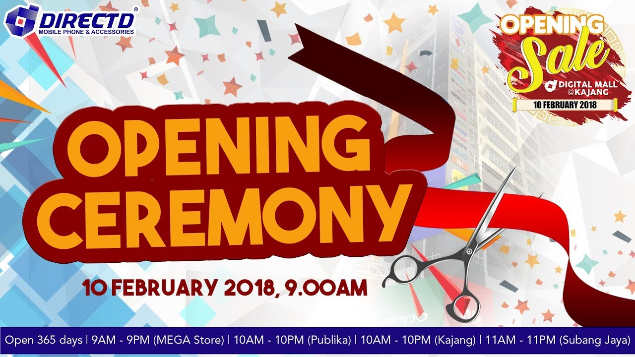 Opening ceremony directd digital mall kajang youtube opening ceremony directd digital mall kajang sciox Choice Image