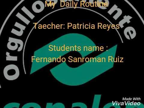 My  Daily Routine  Lagos de Moreno Conalep 168