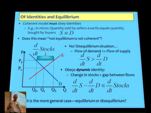 Crash Course in Non-Equilibrium Economics Lecture 1A