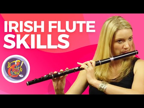Irish Flute Lessons: Rolls + The Hollybush Jig with Kirsten Allstaff  OAIMIE Tutorials
