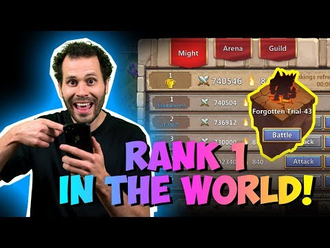 Rank 1 IOS Player IN THE WORLD!  Castle Clash