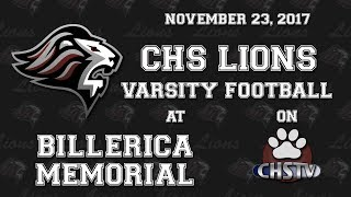 CHS Lions Football at Billerica Nov. 23, 2017