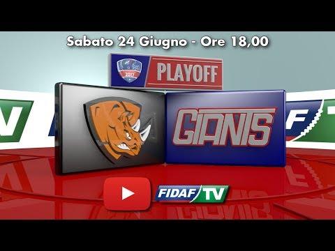 SEMIFINALI: Rhinos Milano vs Giants Bolzano