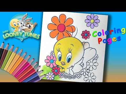 Baby Looney Toons Tweety. #ColouringPages And #LearnColors For Kids With Baby Looney Tunes