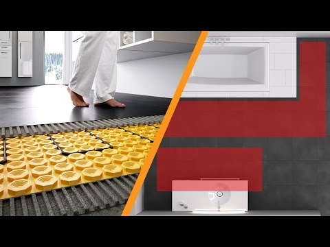 chauffage lectrique par le sol schl ter ditra heat e version ancienne youtube. Black Bedroom Furniture Sets. Home Design Ideas