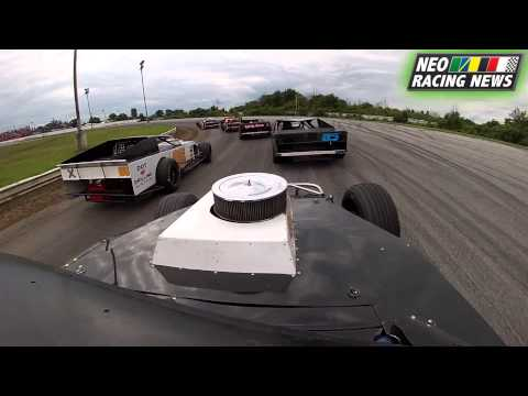 NEO Racing News – Top Speed Modified Heat Two (Kenny Sharp) @ Sandusky Speedway – 7/28/13
