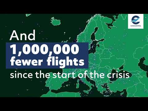 Flights in the European Network - overview for 24 April 2020