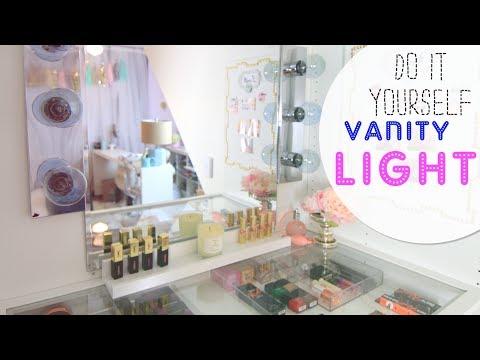 DIY Vanity Light Mirror - Easy & Quick (LisaPullano)
