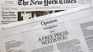 Zeitungen wehren sich gegen Trumps Kritik