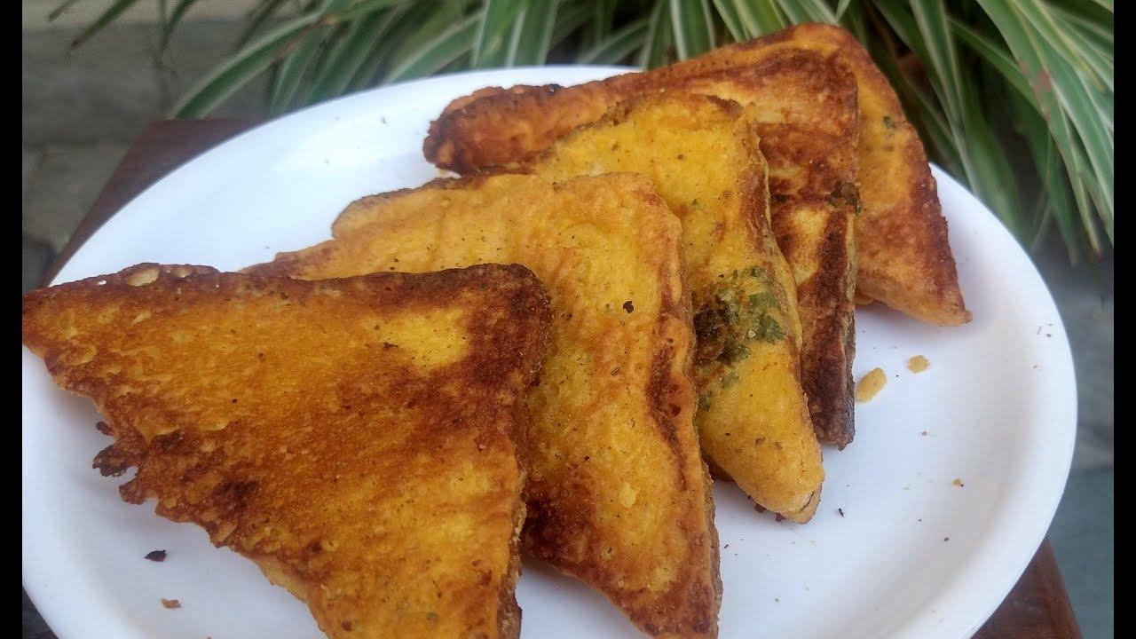 Healthy Bread Pakora | Tawa Bread Pakoda Recipe | Bread Pakoda  | Easy Bread Pakora | Kids Tiffin