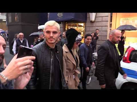 Icardi e Wanda, shopping in via Montenapoleone