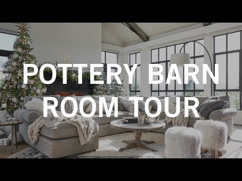 Pottery Barn Room Tour: Cozy Luxe Holiday Living Room