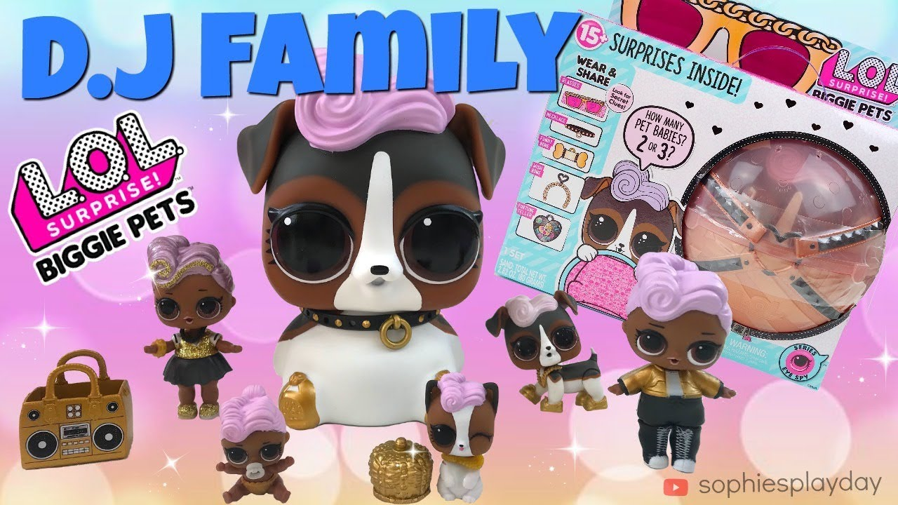 Unboxing Lol Surprise Biggie Pets Wave 2 Dj K9 Eye Spy Series 4 Wave